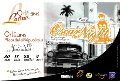 Salsa Place de la République à Orléans avec DJ OscarNight